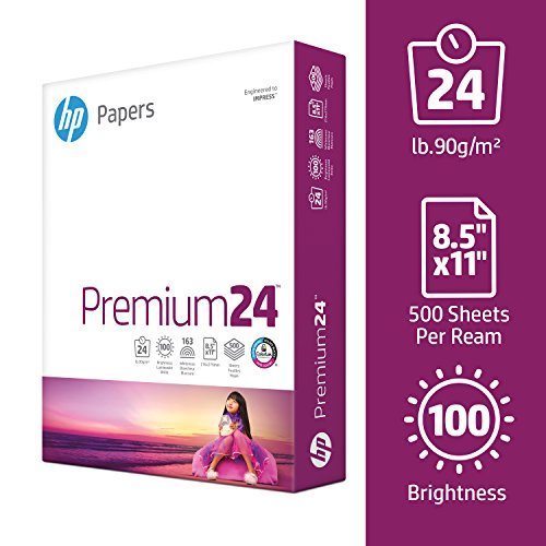 HP Printer Paper, Premium24, 8.5 x 11 Paper, Letter Size, 24lb Paper, 98 Bright, 5 Reams / 2,500 Sheets, Presentation Paper, Acid Free Paper (115300C) by HP Paper (Image #3)