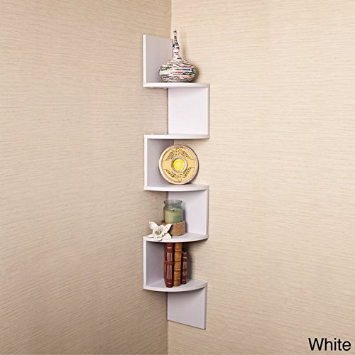 Review Our White Skinny Tall Shelf, Wall Mounted Bookshelf Is a By Danya by Danya