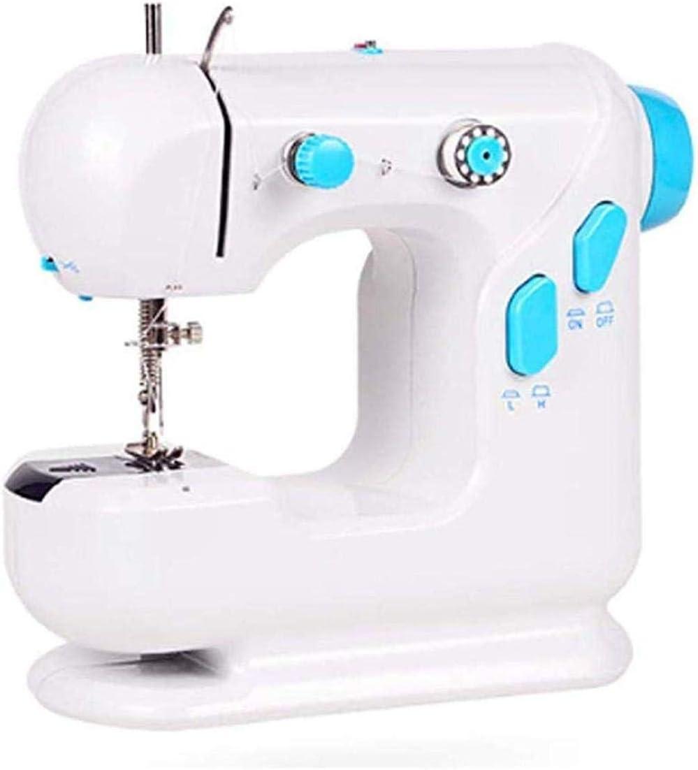 Yuaer Máquina de coser portátil Pequeña máquina de coser doméstica con joystick Máquina de bordar multifuncional de ...