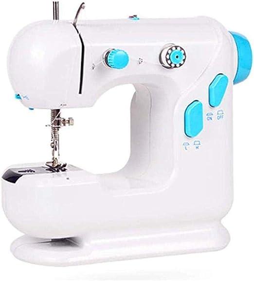 Yuaer Máquina de coser portátil Pequeña máquina de coser doméstica ...