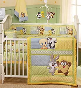 Amazon Com Baby Looney Tunes 4 Piece Crib Bedding Set Baby