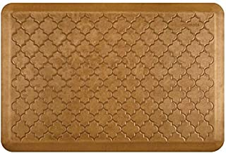 "product image for WellnessMats Premium Anti-Fatigue Comfort Mat Trellis Collection, Copper Leaf 72""x24"""