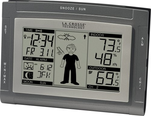 Moon Weather Station - La Crosse Technology WS-9611U-IT Wireless Sun/Moon Forecast Station with Oscar Outlook