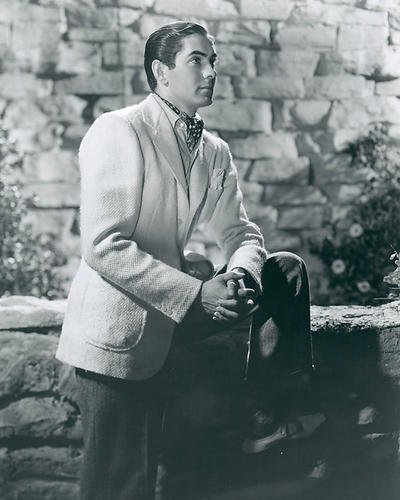 1940's Photograph - Tyrone Power 8x10 Promotional Photograph classic 1940's classy pose
