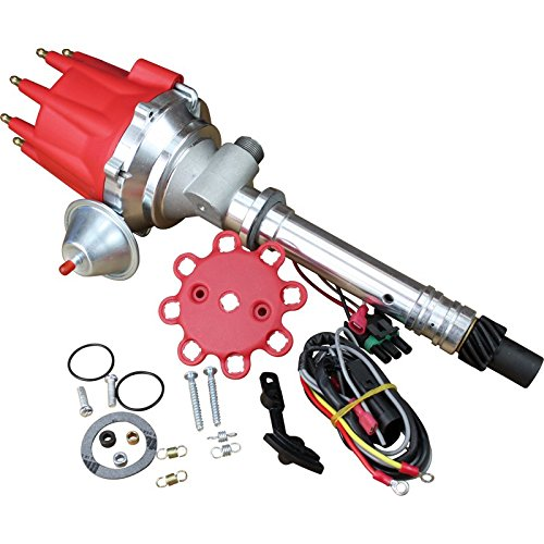 (Fits Under Factory Shield! Easy Performance Ignition Upgrade. New Electronic Pro Billet Ignition Distributor w/mechanical TACH DRIVE cable connection for 1962-1974 Chevrolet Corvette Oem Fit D8572-D )