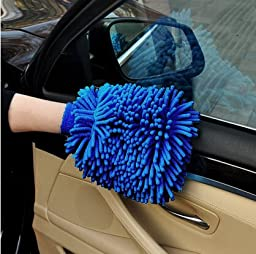 Premium Microfiber Car Wash Mitt (2-Pack) with free polishing cloth, High Density, Ultra-soft wash glove, Lint Free-Scratch Free, Use Wet or Dry