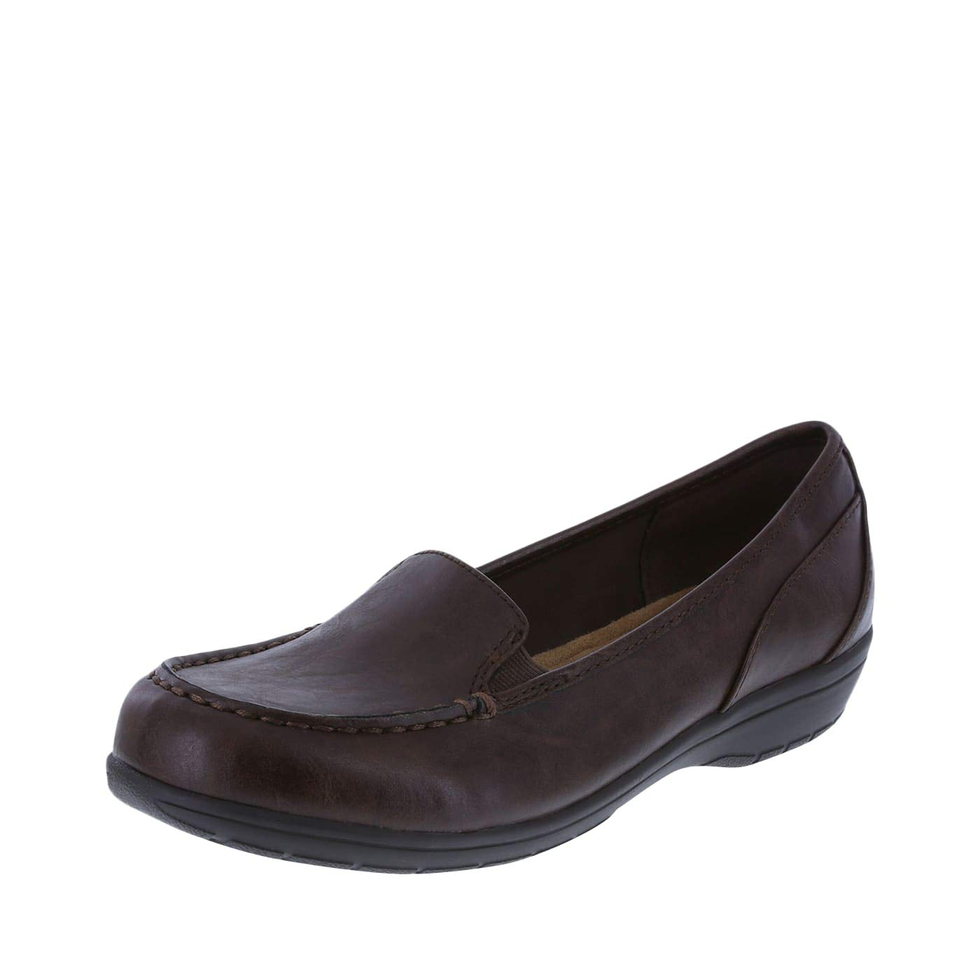 Comfort Plus by Predictions Women's Brown Women's Colby Loafer 5.5 Wide