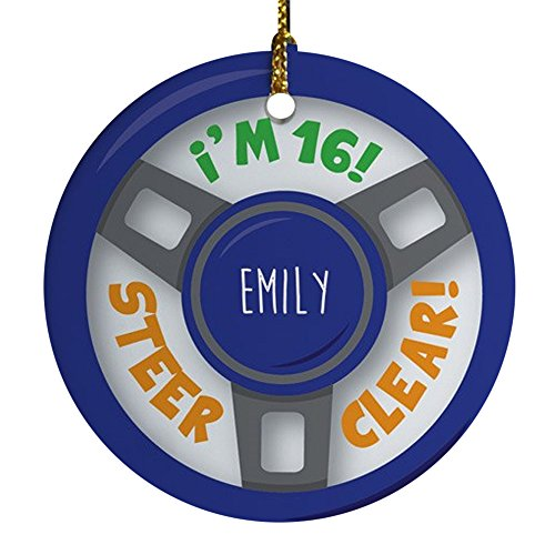 GiftsForYouNow Personalized Christmas Ornament Ceramic product image