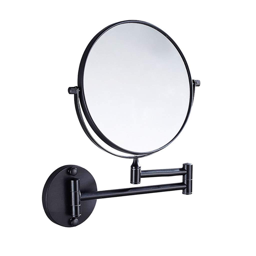 HHAOH Espejos de Pared para bantilde;o, Espejos de de de vanidad para el Dormitorio, Espejo de Maquillaje 3 aumentos, Espejo Giratorio de Montaje en Pared de Doble Cara,Matte White_8inch 446db3