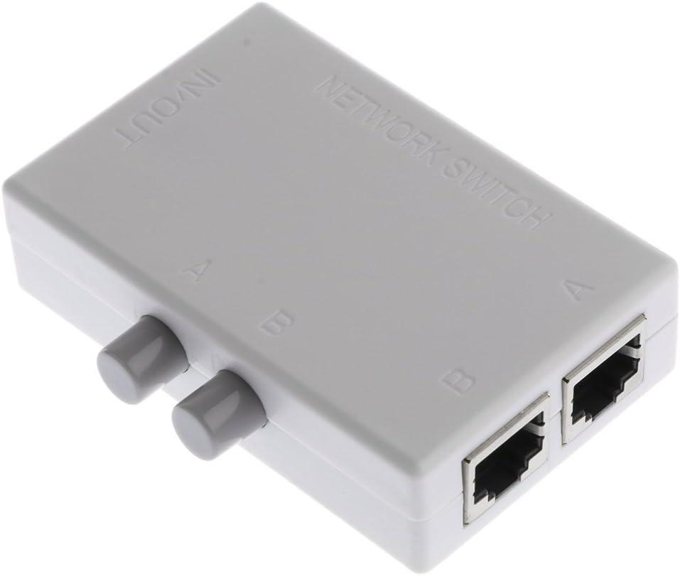 commutatore 2/uscite o 2/ingressi KALEA-INFORMATIQUE regolatore Ethernet RJ45 reversibile Switch 1/ingresso 1/uscita./Funziona come un contenitore di condivisione o un interruttore.