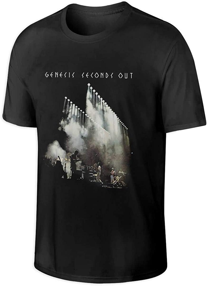 KEIRA ATKINSON Genesis Men's Seconds Out Short-Sleeved Men's Cotton T-Shirt, Fashionable Short-Sleeved T-Shirt