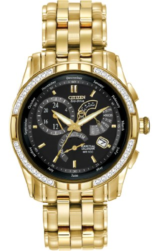 "Citizen Men's BL8042-54E ""Calibre 8700"" Stainless Steel Diamond-Accented Eco-Drive Watch"
