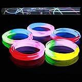 "50 22"" Premium Glow Necklaces, Extra Thick 7mm Diameter (Tri-Color Mix)"