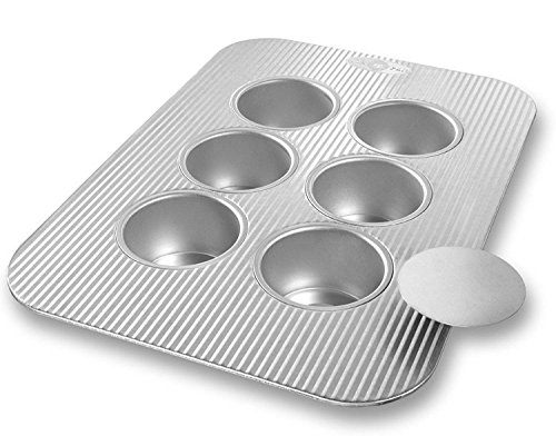 New Mini 6 Cup Non Stick Steel Cheesecake Baking Cake Pan with Kitchen Tools Combo