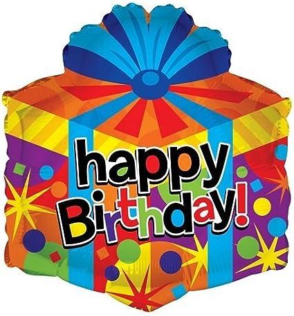 Happy Birthday Celebrate Gift Present Box Party Balloon