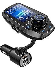 Guanda bluetooth FM-zender voor de auto, een bluetooth auto-adapter, 4-in-1 auto MP3-speler met 1.8 inch breed kleuren scherm, AUX ingang/uitgang, 3-poorts usb, S Handsfree bellen, SD/TF-kaart