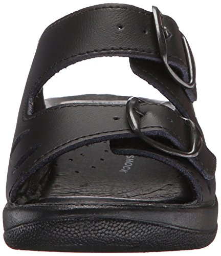 Step Leather Spring Women's Slide Decca Black Sandal SBw0qxwz
