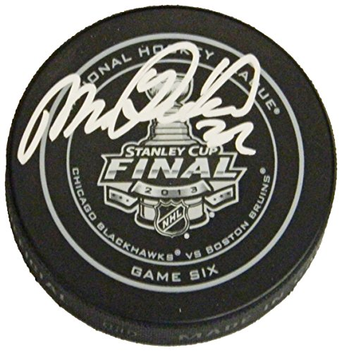 Michal Rozsival Signed Official 2013 Stanley Cup Finals Game Six Hockey Puck