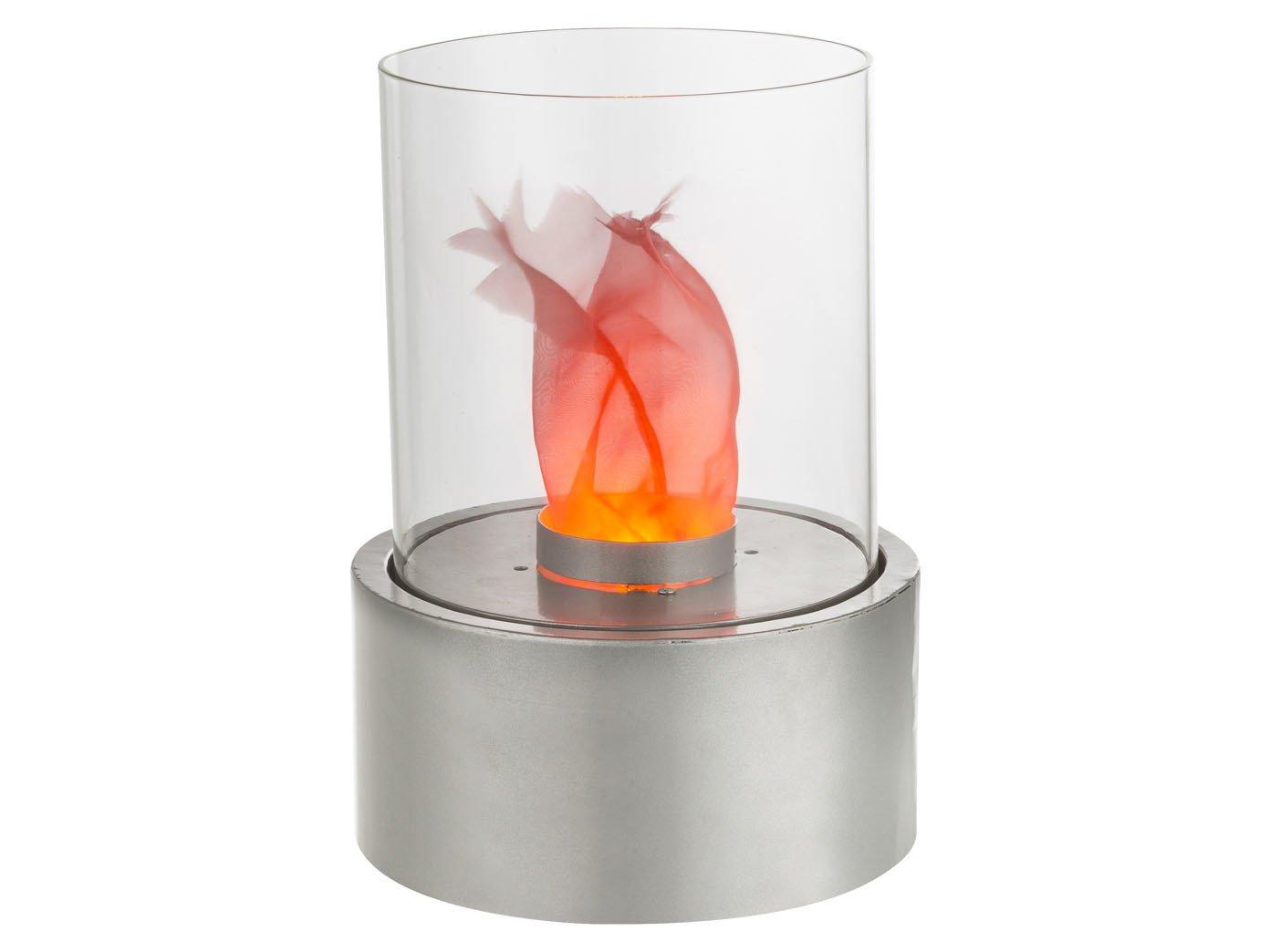 effektvolle LED Lámpara de mesa Fire en diseño - Chimenea de mesa ...