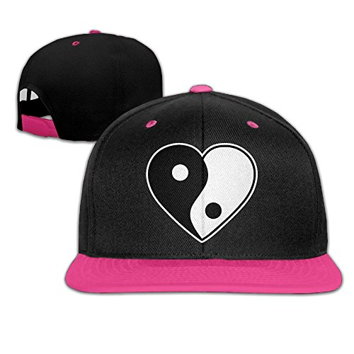 Mens/Womens Hip-hop Hats Hearts Yin Yang Tattoo Adjustable Sport Hat ()