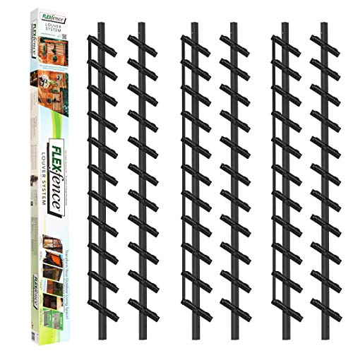 Flex-Fence, Decorative Versa Fence Louver System, Perfect for Gardens, Patios and Outdoor Spaces, Indoor and Outdoor Use, 3 Pack (Versa Fence)