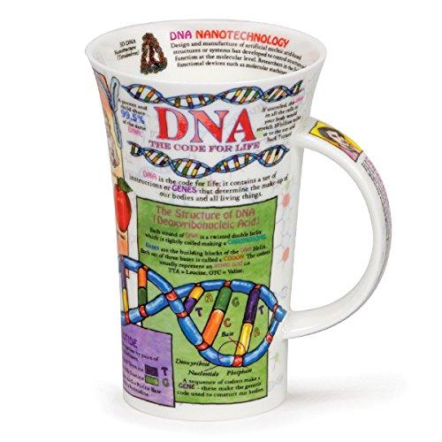 Dunoon Glencoe Fine China Educational DNA Mug Cup 500ml 16.9 fl ()