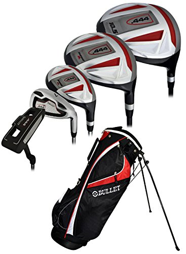 Cheap Bullet Golf .444 Complete Set with Bag, Left Hand, Black/Red