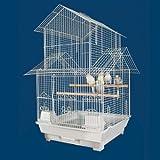 Kiko Kondo Housetop Bird Cage - 16''W x 16''D x 27''H - White