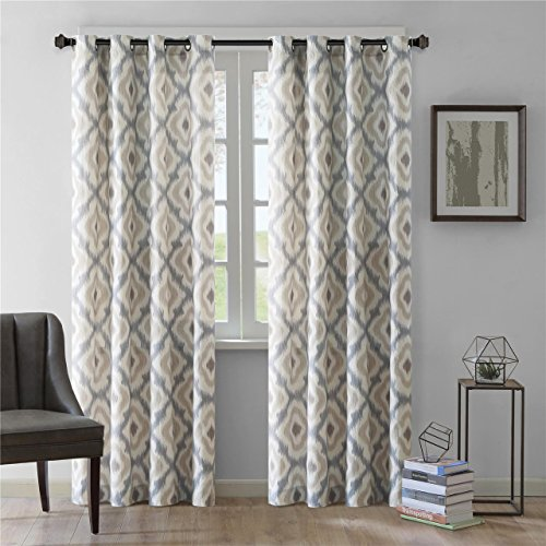 Ankara Window Curtain Taupe 84