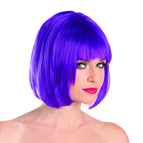 Purple Wig Costume Ideas (Purple Solid Color Short Bob Wig)