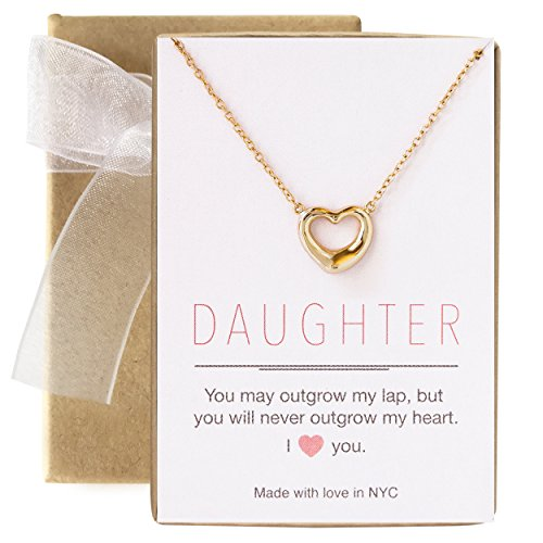 Tiffany 14k Necklace Style - AMY O Gift for Mom, Daughter, Sister - Heart Necklace in Sterling Silver or Gold Vermeil