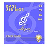 Bass Guitar Strings - Lazea Bright Tone - 4 Strings - Round Wound - Nickel Alloy, .050 - .105