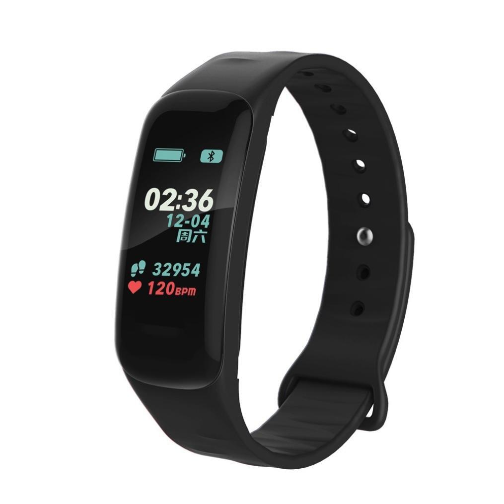 AutumnFall f602カラフルな画面ダイナミックui防水Bluetooth Sport Fitness Trackerスマートブレスレット腕時計  ブラック B078Z9LWGP