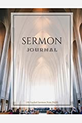 Sermon Journal Guided Notebook: 150 Guided Sermon Note Pages 8.5x11 Beautiful Cathedral Cover (Love Useful Designs) (Volume 1) Paperback