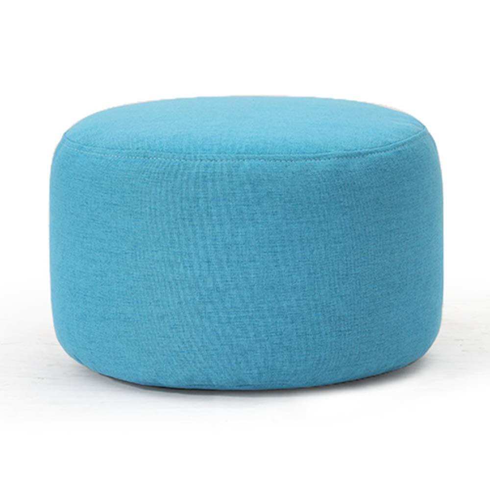 bluee Sofa Stool Change shoes Stool Creative Leisure Linen Multifunctional Stool (color   Khaki)