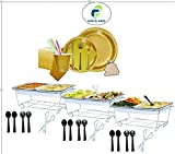 Pans Pro Disposable Wire Chafer Stand Kit and Combo Party Pack