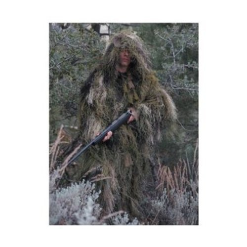 Rothco Bushrag Ultralight Long Gillie Jacket, Woodland, - Ultralight Ghillie Jacket