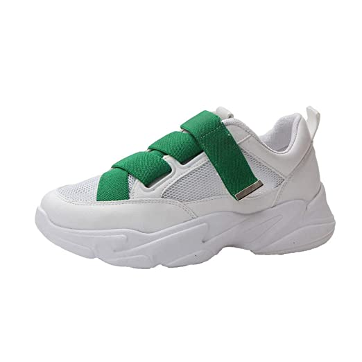 6095a926a6a8e Amazon.com: Wulofs Women's Mid Heel Muffin Bottom Casual Shoes ...