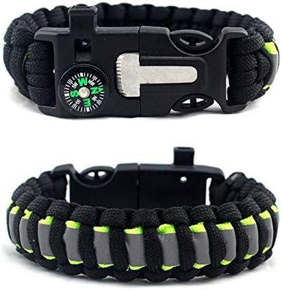 Fantasyworld Outdoor Survival Bracelet Umbrella Camping Multifunctional Survival Bracelet Black