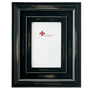 Lawrence Frames Dimensional Rustic Black Wood 4x6 Picture Frame