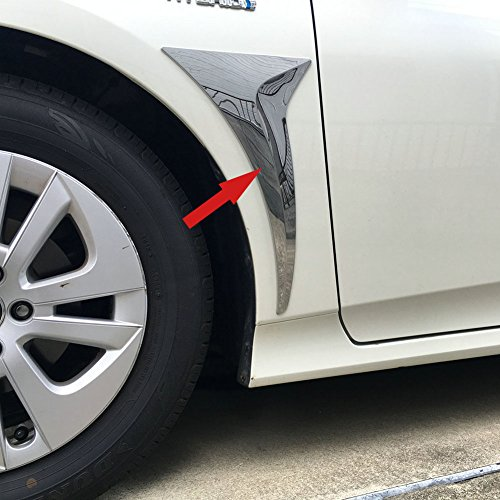 (Generic Chrome Front Side Fender Vents Air Outlet Cover Trim Fit For Toyota Prius 2016 2017)