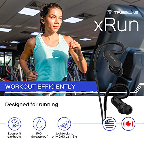a25c00addfc TREBLAB xRun - Prime Bluetooth Sports Headphones. Ultramodern Wireless  Running Earbuds & Workout Earphones.