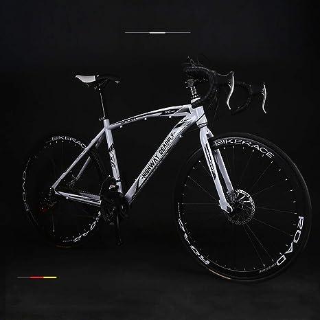 Bicicleta De Carretera De 26 Pulgadas, Bicicleta De Montaña para Adultos con Alto Contenido De Carbono Y Doble Freno De Bicicleta Bicicleta-Bicicleta De 24 Velocidades-Estudiante Juvenil,Blanco: Amazon.es: Deportes y aire libre