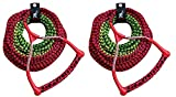 Airhead 3-Section Water Ski Rope with Radius Handle and EVA Grip (Pack of 2)