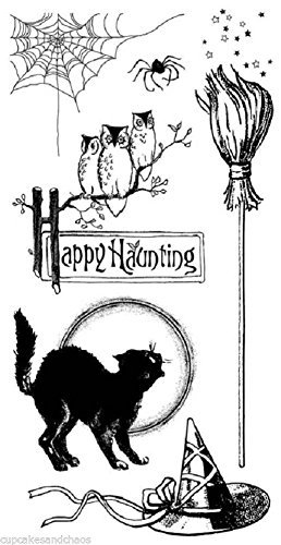 HAMPTON ART GRAPHIC 45 Clear Stamps HAPPY HAUNTING (Happy Halloween Graphic)