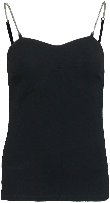 Spiral - Womens - GOTHIC ROCK - Adjustable Chain Camisole Top Black