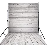 Gray Wood Photography Background Backdrop Wooden Floor Design for Studio Photography Newborn Children Photos FF-062(CA) 150x300cm