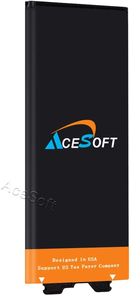 AceSoft High Capacity Extended Slim 3650mAh Replacement A Battery for AT/&T LG G5 H820 Cellphone US