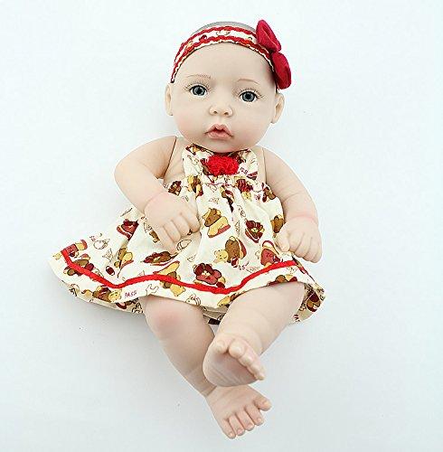Npkdoll Reborn Baby Doll Hard Silicone 11inch 28cm Red Hat Girl