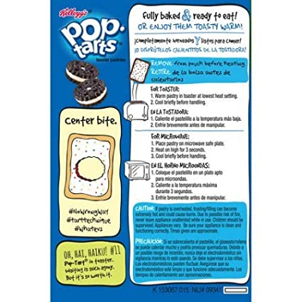 Amazon.com: Kelloggs Frosted Cookies & Creme Pop-Tarts, 16 ct (Pack of 2):